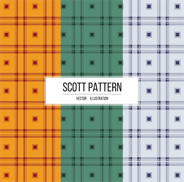 Scott tessuto trama del modello Vettore Premium