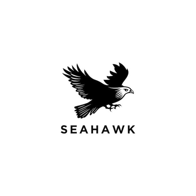 Modello di progettazione di logo di sea hawk Vettore Premium