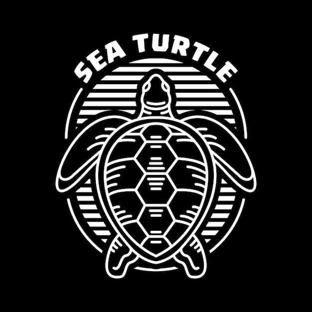 Tartaruga di mare Vettore Premium