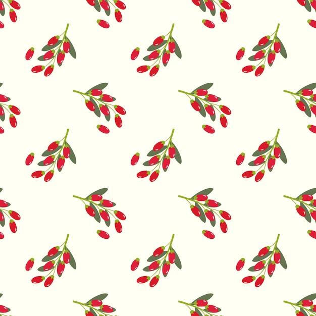 Immagine di sfondo senza soluzione di continuità bacca di goji frutta tropicale colorata Vettore Premium