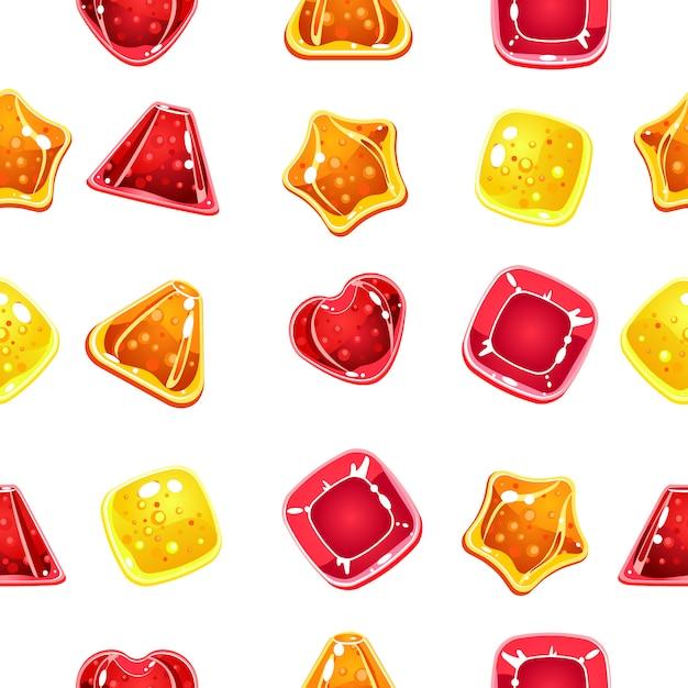 Sfondo trasparente con caramelle colorate di halloween Vettore Premium