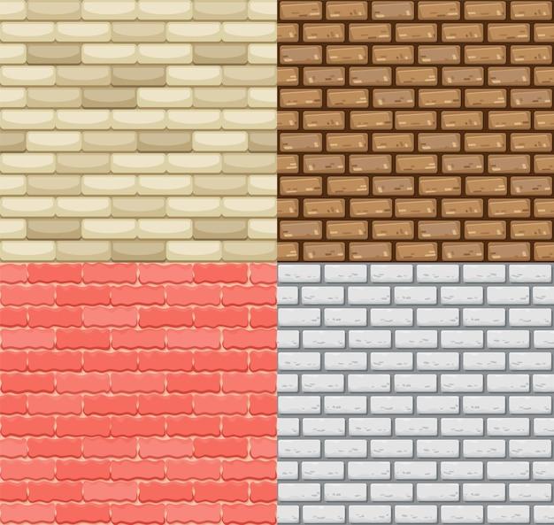 Disegno di illustrazione del muro di mattoni senza soluzione di continuità Vettore Premium