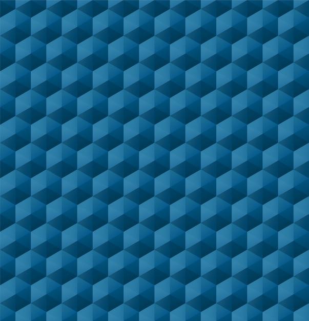 Motivo geometrico senza soluzione di continuità con forme geometriche blu Vettore Premium