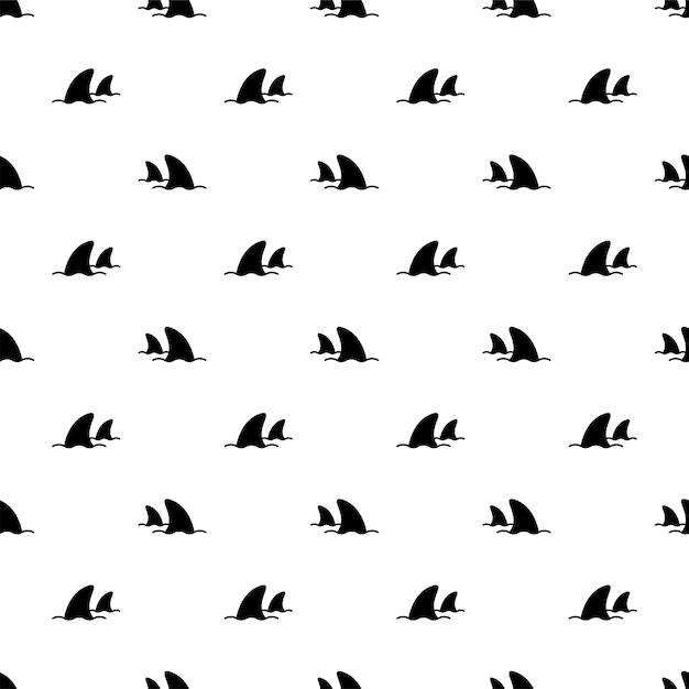 Cartone animato di balena delfino di pesce senza cuciture Vettore Premium