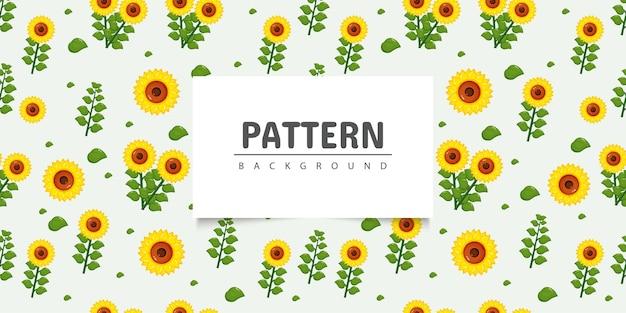 Seamless pattern girasole Vettore Premium