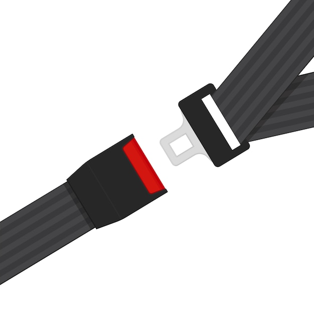Vettore del segno della cintura di sicurezza piano Vettore Premium