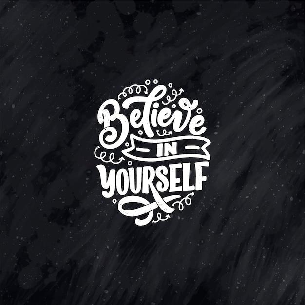 Preventivo lettering per auto-cura per blog o vendita. tempo per qualcosa di carino. Vettore Premium