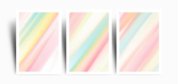 Set di sfondo con colori pastello marbel colorati Vettore Premium