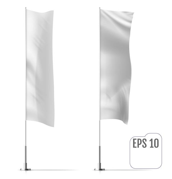Set di bandiere vuote Vettore Premium
