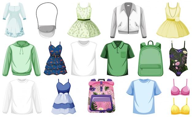 Set di vestiti Vettore Premium