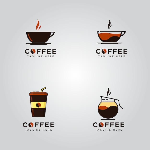 Set di loghi di caffè Vettore Premium