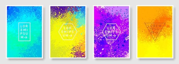 Set di colorato stile astratto moderno Vettore Premium