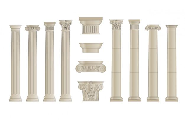 Set di colonne Vettore Premium