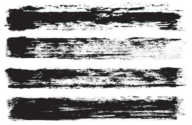 Set di linee di vernice grunge Vettore Premium