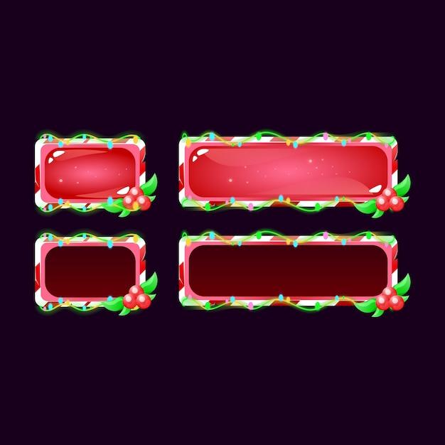 Set di gui christmas button Vettore Premium