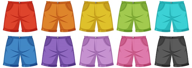 Set di pantaloni maschili Vettore Premium