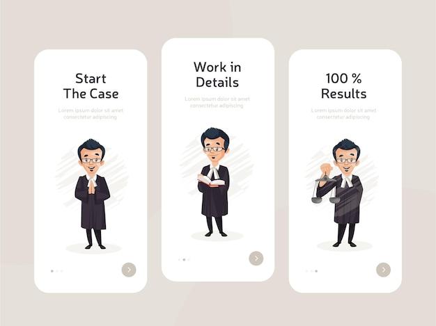 Set di design a schermo piatto di app mobili Vettore Premium