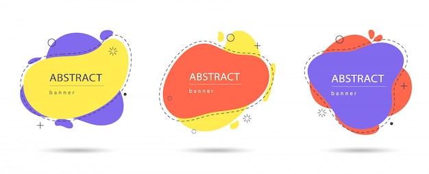 Set di banner astratti moderni. moderne forme astratte colorate Vettore Premium