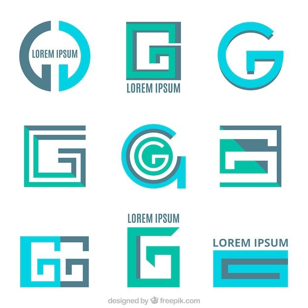 Set di loghi lettere moderni