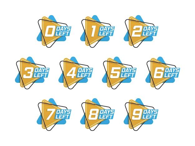 Serie di numeri Vettore Premium