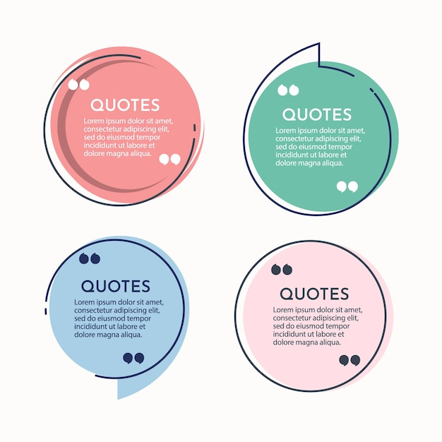 Impostare il modello di sfondo delle citazioni. Vettore Premium