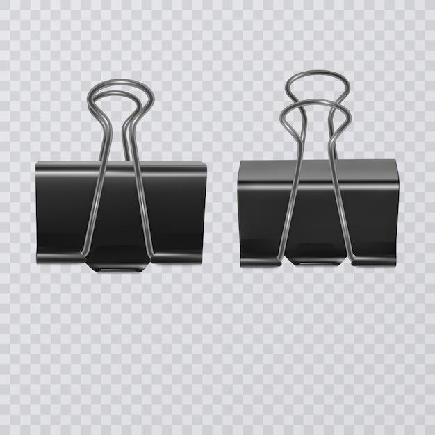 Set di clip di documento realistico isolato Vettore Premium