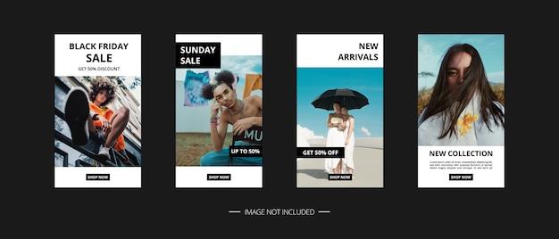 Set di banner di social media Vettore Premium