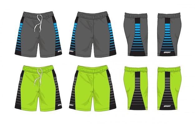 Set di pantaloncini sportivi Vettore Premium