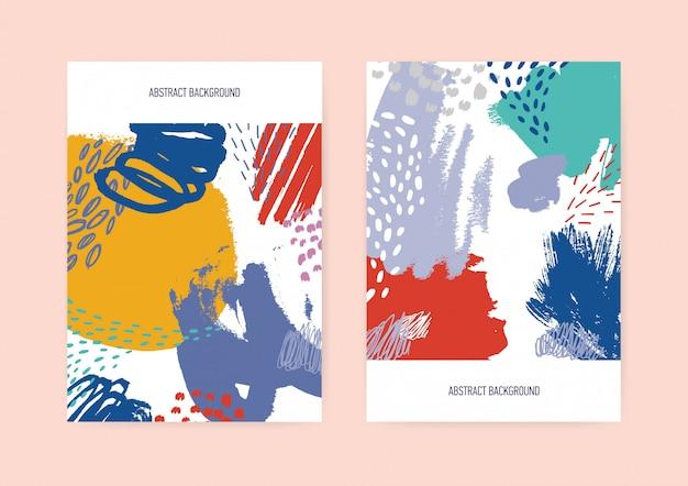 Set di modelli di volantini o cartoline verticali Vettore Premium