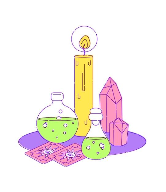 Set per rituale magico delle streghe Vettore Premium