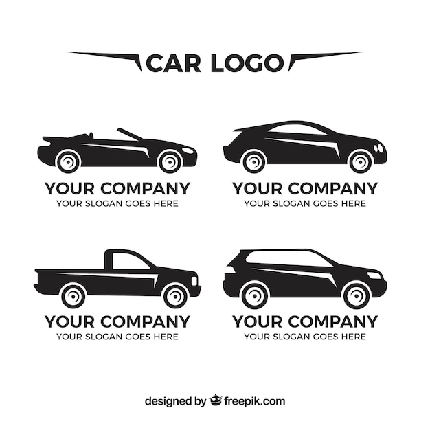Diversi marchi dell'automobile in design piatto Vettore Premium
