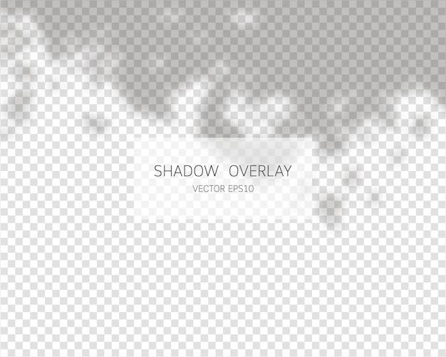 Effetto di sovrapposizione delle ombre. ombre naturali isolate su sfondo trasparente. Vettore Premium