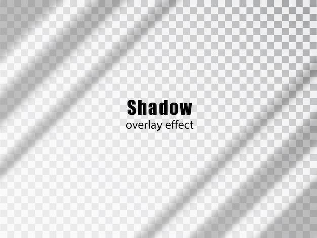 Sovrapposizione di ombre effetto trasparente. luce e ombra sfondo decorativo grigio realistico. ombra e luce dalla finestra. mockup di effetto di sovrapposizione di ombre trasparenti e lampi naturali Vettore Premium
