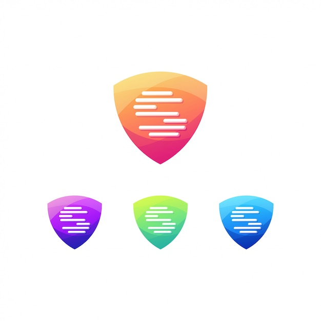 Accesso alla firma del logo dell'impronta digitale dello schermo Vettore Premium