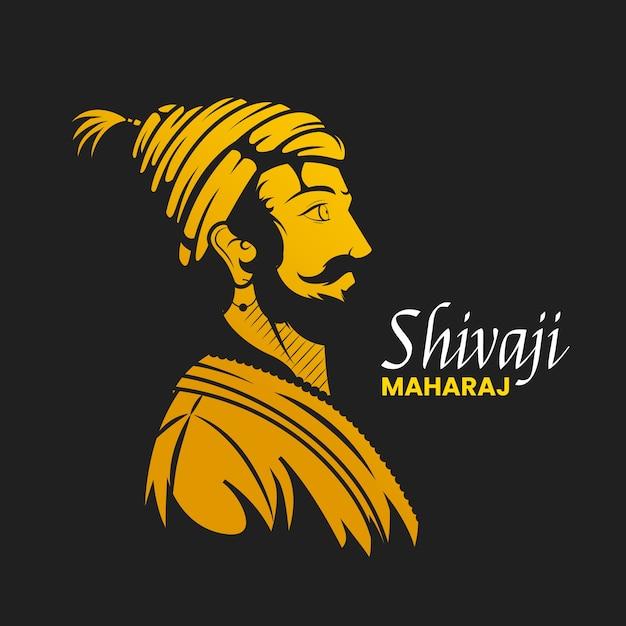 Illustrazione di shivaji maharaj Vettore Premium
