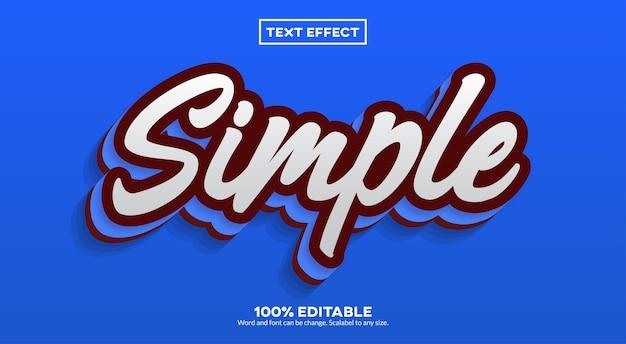 Effetto di testo semplice Vettore Premium