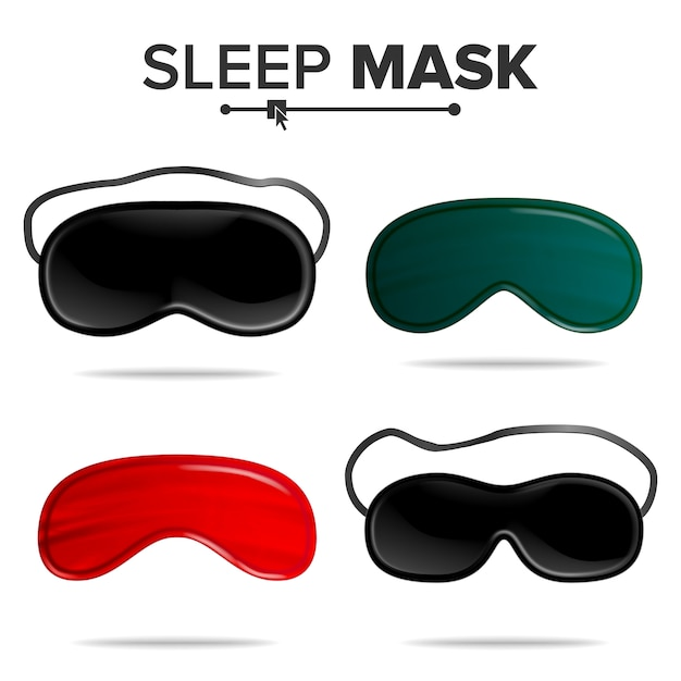 Set di maschere per dormire Vettore Premium