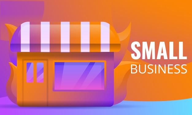 Progettazione di massima di piccole imprese Vettore Premium