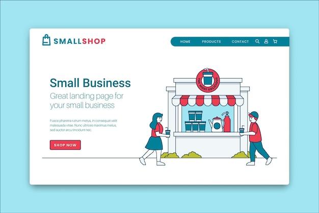 Pagina di destinazione per le piccole imprese Vettore Premium