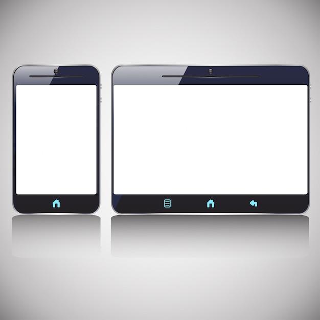 Tablet formica per smartphone Vettore Premium