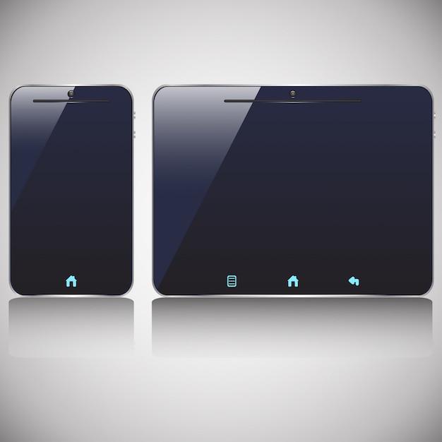 Smartphone e tablet spenti Vettore Premium