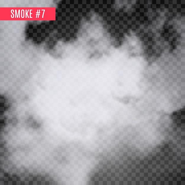 Effetto speciale fumo su trasparente. priorità bassa di disegno isolata nebbia. effetto fumoso. Vettore Premium