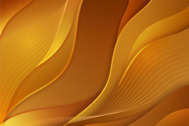 Sfondo liscio onda dorata Vettore Premium
