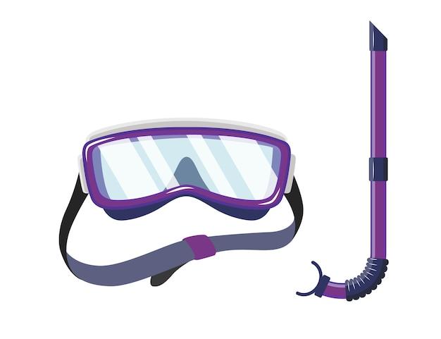 Maschera da snorkeling per immersioni e nuoto Vettore Premium