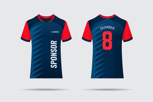 Design della maglia da calcio Vettore Premium