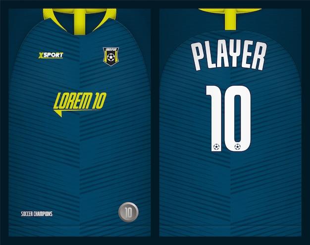 Modello di maglia da calcio Vettore Premium