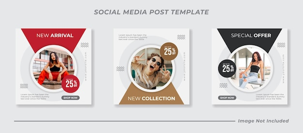 Social media instagram feed post vendita di moda Vettore Premium