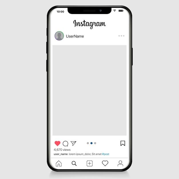 Rete di social media. app mobile con foto e modello di tessera storia. profilo utente, notizie, notifiche e post. modello di illustrazione. Vettore Premium