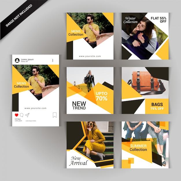 Social media post o banner Vettore Premium