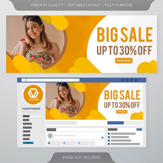 Banner di annunci di vendita di social media Vettore Premium